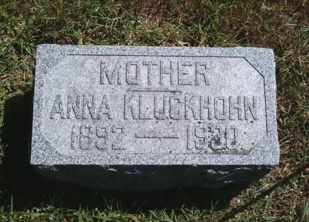 KLUCKHOHN, ANNA - Hancock County, Iowa | ANNA KLUCKHOHN