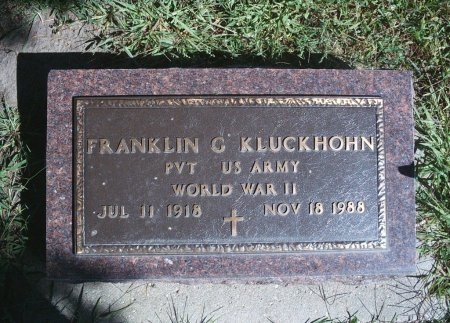 KLUCKHOHN, FRANKLIN G - Hancock County, Iowa | FRANKLIN G KLUCKHOHN