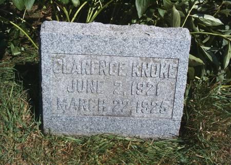 KNOKE, CLARENCE - Hancock County, Iowa   CLARENCE KNOKE