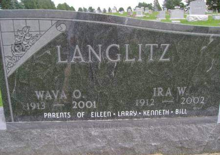 LANGLITZ, IRA W - Hancock County, Iowa   IRA W LANGLITZ