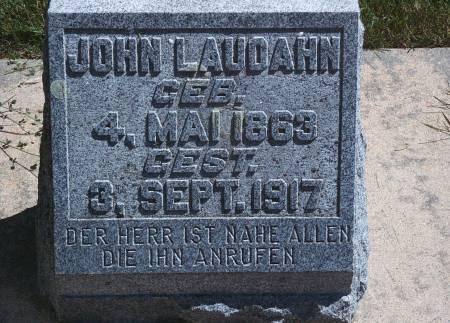 LAUDAHN, JOHN - Hancock County, Iowa | JOHN LAUDAHN