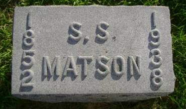 MATSON, SAMUEL S - Hancock County, Iowa | SAMUEL S MATSON