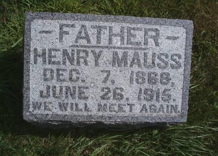 MAUSS, HENRY - Hancock County, Iowa | HENRY MAUSS