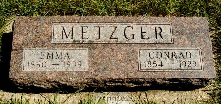 METZGER, CONRAD - Hancock County, Iowa | CONRAD METZGER