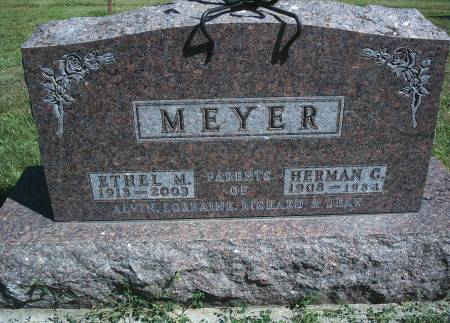 MEYER, HERMAN C - Hancock County, Iowa | HERMAN C MEYER