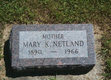 NETLAND, MARY K - Hancock County, Iowa | MARY K NETLAND