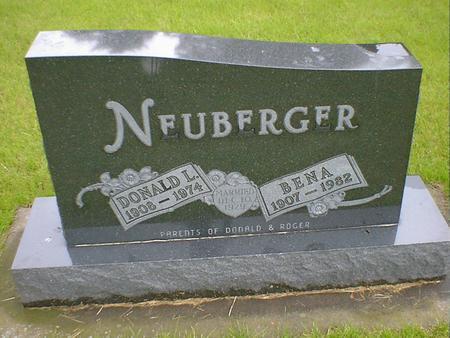 NEUBERGER, BENA - Hancock County, Iowa | BENA NEUBERGER