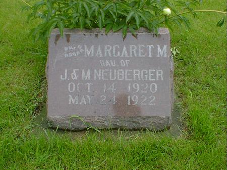 NEUBERGER, MARGARET M - Hancock County, Iowa | MARGARET M NEUBERGER