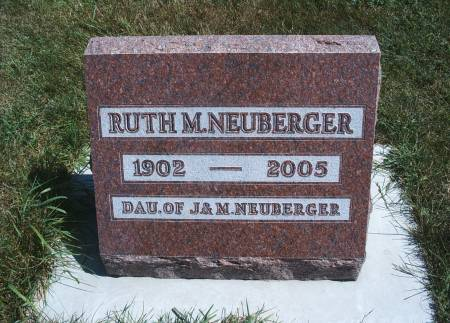 NEUBERGER, RUTH M - Hancock County, Iowa | RUTH M NEUBERGER