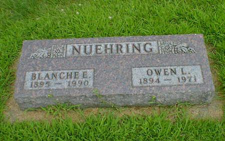NUEHRING, BLANCHE E - Hancock County, Iowa | BLANCHE E NUEHRING