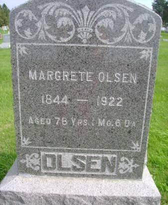 OLSEN, MARGRETE - Hancock County, Iowa | MARGRETE OLSEN