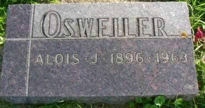 OSWEILER, ALOIS J - Hancock County, Iowa   ALOIS J OSWEILER