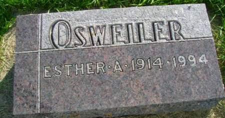 OSWEILER, ESTHER A - Hancock County, Iowa | ESTHER A OSWEILER