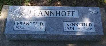 PANNHOFF, KENNETH D - Hancock County, Iowa | KENNETH D PANNHOFF