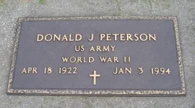 PETERSON, DONALD J - Hancock County, Iowa   DONALD J PETERSON