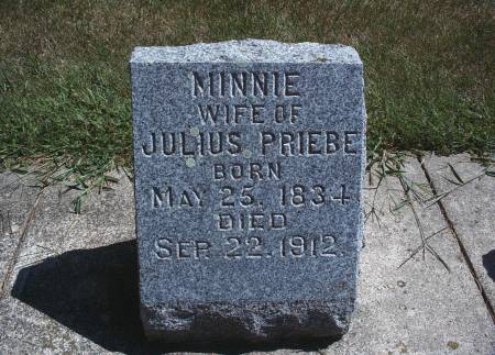 PRIEBE, MINNIE - Hancock County, Iowa | MINNIE PRIEBE