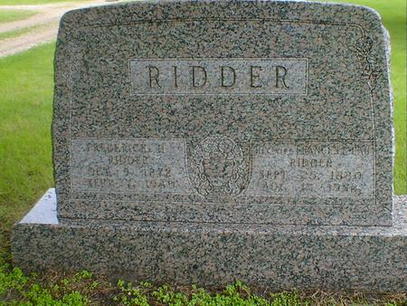 RIDDER, FRANCES E - Hancock County, Iowa | FRANCES E RIDDER