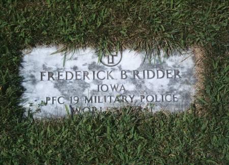 RIDDER, FREDERICK B - Hancock County, Iowa | FREDERICK B RIDDER