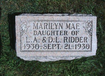 RIDDER, MARILYN MAE - Hancock County, Iowa | MARILYN MAE RIDDER
