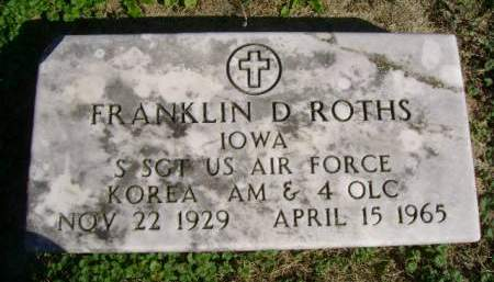 ROTHS, FRANKLIN D - Hancock County, Iowa | FRANKLIN D ROTHS