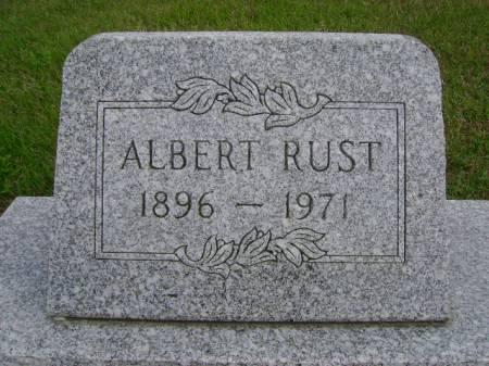 RUST, ALBERT - Hancock County, Iowa | ALBERT RUST