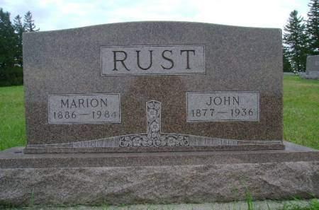 RUST, MARION - Hancock County, Iowa | MARION RUST