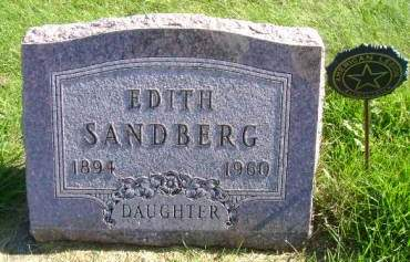 SANDBERG, EDITH - Hancock County, Iowa | EDITH SANDBERG
