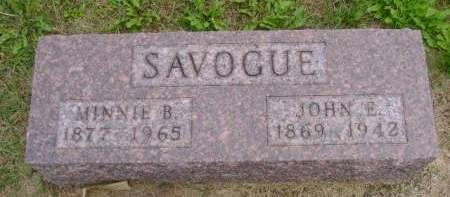 SAVOGUE, JOHN E - Hancock County, Iowa | JOHN E SAVOGUE