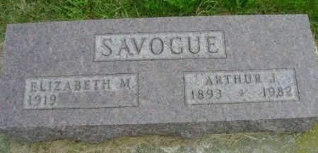 SAVOGUE, ARTHUR J - Hancock County, Iowa | ARTHUR J SAVOGUE