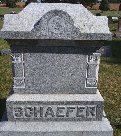 SCHAEFER, FAMILY MONUMENT - Hancock County, Iowa   FAMILY MONUMENT SCHAEFER