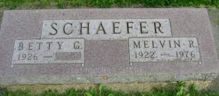 SCHAEFER, MELVIN R - Hancock County, Iowa   MELVIN R SCHAEFER