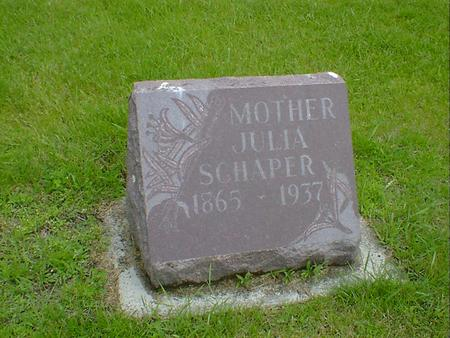 SCHAPER, JULIA - Hancock County, Iowa | JULIA SCHAPER