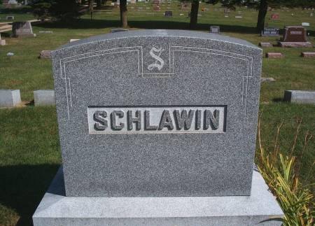 SCHLAWIN, FAMILY MONUMENT - Hancock County, Iowa   FAMILY MONUMENT SCHLAWIN