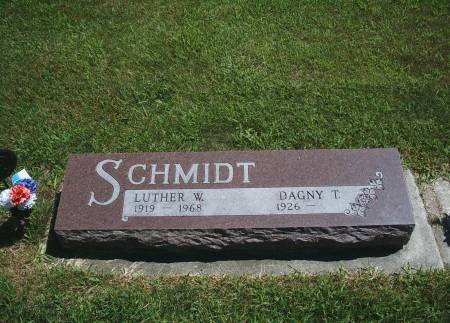 SCHMIDT, LUTHER W - Hancock County, Iowa | LUTHER W SCHMIDT