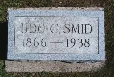 SMID, UDO G - Hancock County, Iowa   UDO G SMID