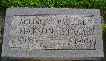 MATSON STACY, MILDRED P - Hancock County, Iowa | MILDRED P MATSON STACY