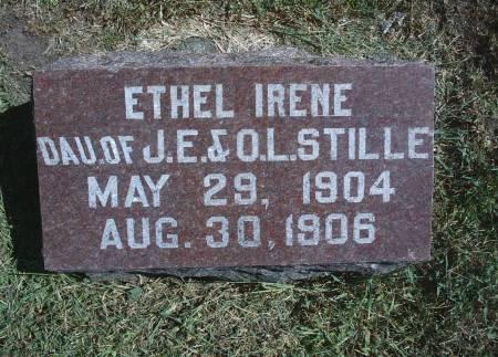 STILLE, ETHEL I - Hancock County, Iowa   ETHEL I STILLE