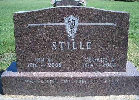 STILLE, INA A - Hancock County, Iowa | INA A STILLE