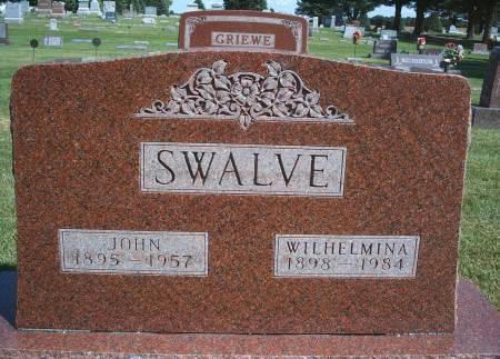 SANDERSFELD SWALVE, WILHELMINA - Hancock County, Iowa | WILHELMINA SANDERSFELD SWALVE