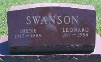 SWANSON, IRENE - Hancock County, Iowa | IRENE SWANSON