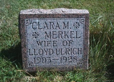MERKEL ULRICH, CLARA M - Hancock County, Iowa | CLARA M MERKEL ULRICH