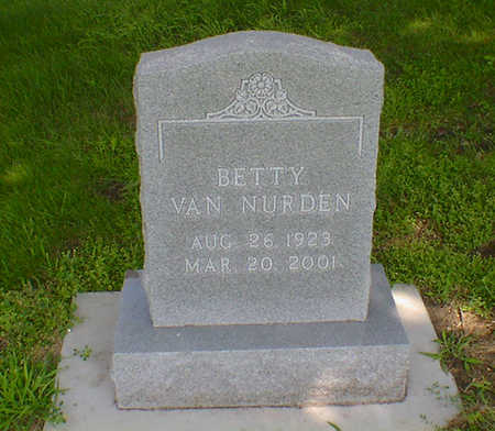 VAN NURDEN, BETTY - Hancock County, Iowa | BETTY VAN NURDEN