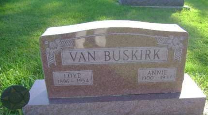 VAN BUSKIRK, ANNIE - Hancock County, Iowa   ANNIE VAN BUSKIRK