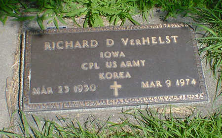 VERHELST, RICHARD D - Hancock County, Iowa | RICHARD D VERHELST