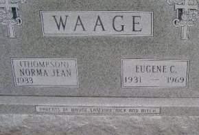WAAGE, EUGENE C - Hancock County, Iowa   EUGENE C WAAGE
