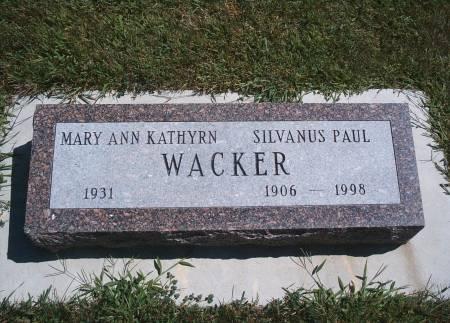 WACKER, SILVANUS P - Hancock County, Iowa   SILVANUS P WACKER