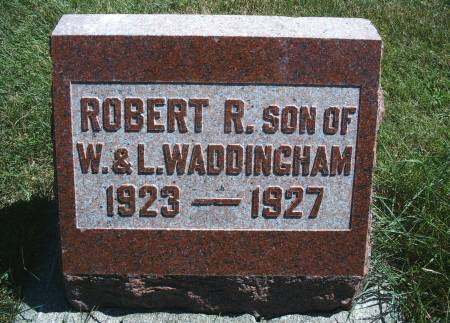 WADDINGHAM, ROBERT R - Hancock County, Iowa | ROBERT R WADDINGHAM