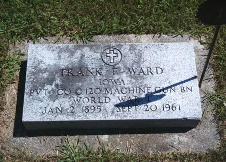 WARD, FRANK F - Hancock County, Iowa | FRANK F WARD