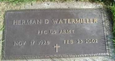WATEMILLER, HERMAN D - Hancock County, Iowa   HERMAN D WATEMILLER