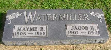 WATERMILLER, JACOB H - Hancock County, Iowa   JACOB H WATERMILLER